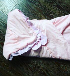Одеялко конверт на выписку