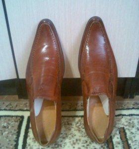 Новые мужские туфли натуральная кожа