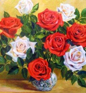 Картина Раскраска по номерам Розы