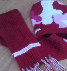Новый нобор кофта, шапка и шарфик