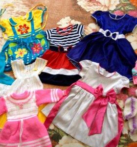 Новые платья на девочку 2-3 годика!
