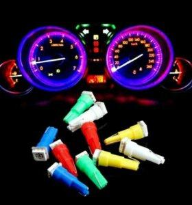 Светодиодные лампы в приборную панель автомобиля