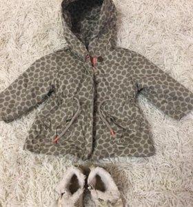 Курточка Zara 9-12мес, рост 80