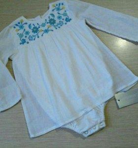 Белое платье-боди