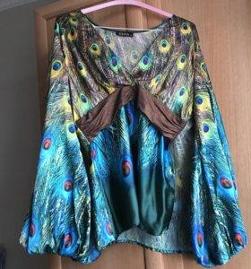 Комплект из блузы и джинс