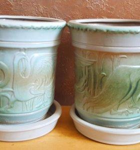 Керамические горши для цветов