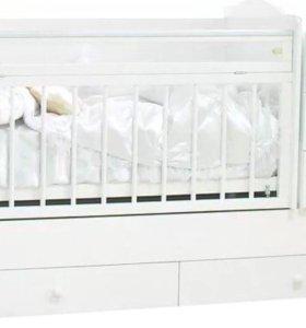 Детская кроватка с комодом в идеальном состоянии