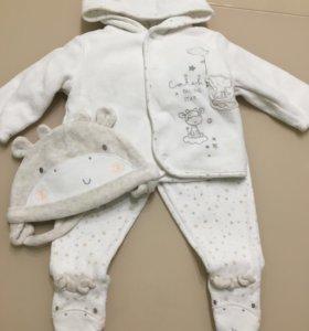 Комплект Кофта и штанишки тёплые mothercare