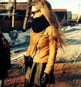 Куртка,юбка кож.зам