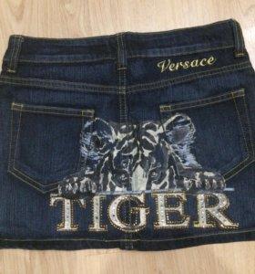 Новая юбка Versace джинсовая