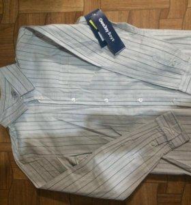 Рубашка прямого покроя ( 100% хлопок)