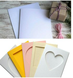 Заготовки для открыток