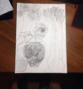 Рисунок цветов