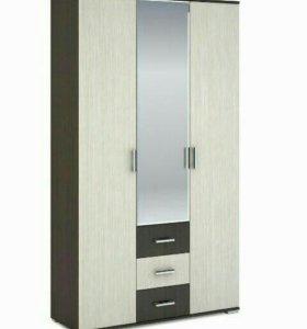 Шкаф распашной с зеркалом шк 803