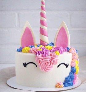 Торт/капкейки единороги 🦄