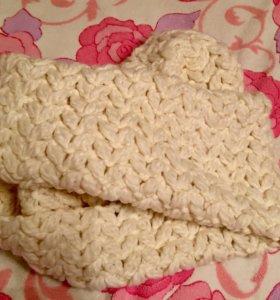 Новый белоснежный шарф