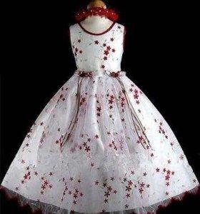 Детское нарядное платье 98