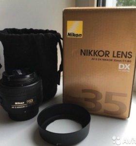 Продам объектив Nikon 35mm f/1.8G AF-S DX Nikkor