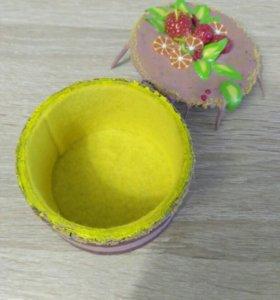 Шкатулка из полимерной глины