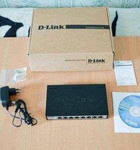 коммутатор D-link DGS-1100-08