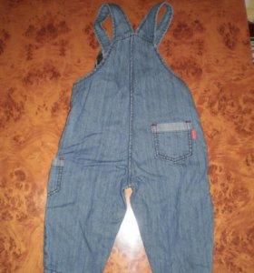 Полукомбинезон джинсовый 74