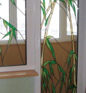 Пластиковый и алюминевые окна и дверь