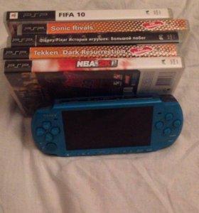 PSP slim+5 игр