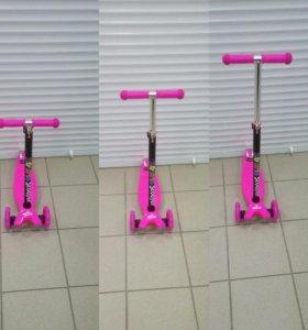 Самокат 21516 scooter розовый