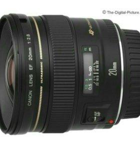 Объектив Canon lens EF 20mm 2.8