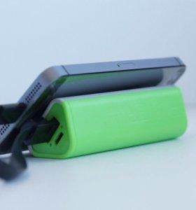 PowerBank подставка зарядка зелёная