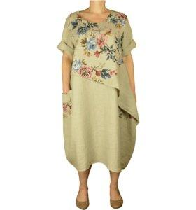 """52-54-56 ЛЕН платье """"Николь"""""""