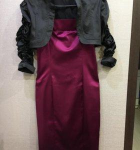 Платье+ накидка 42-44 размер