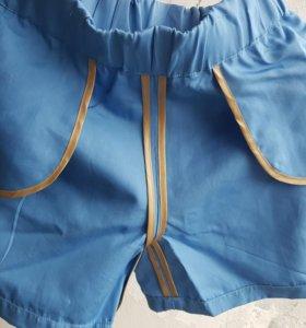 Шорты новые из дорогой костюмной ткани