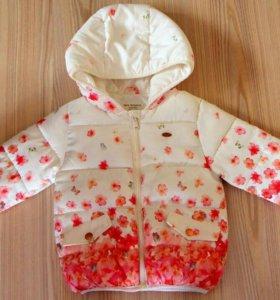 Демисезонная куртка zara для девочки 92-го размера