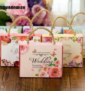Свадебный подарок для гостей, бонбоньерки