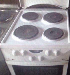 Электро печь горение четыре конфорки духовка БУ