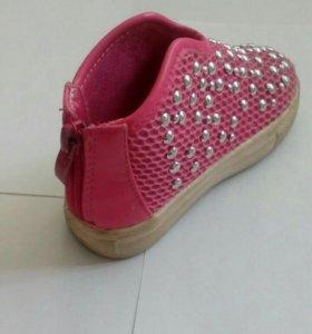 Ботинки из ткани