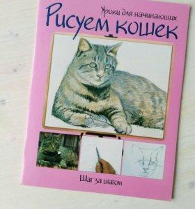 Книга новая Рисуем кошек. Шаг за шагом