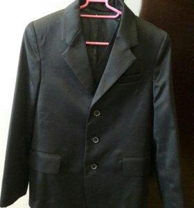 Пиджак с жилеткой для школьника