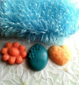Набор мочалка+ мылки