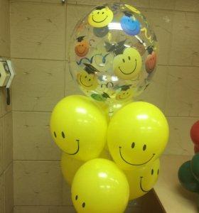 Гелиевые и воздушные шары и комплзиции