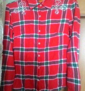 Рубашка в клеточку(новая)