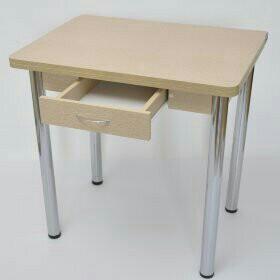 Стол для кухни раскладной с ящиком (ВЫБОР ЦВЕТА)