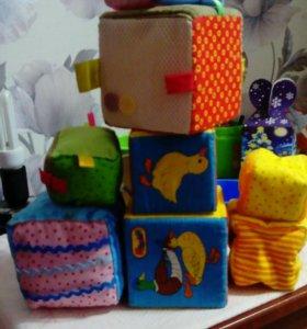 Кубики, погремушка, шар в ванну