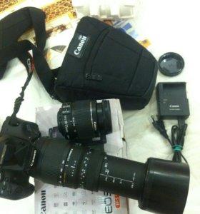 Фотоаппарат Canon 600D+объектив Sigma 70-300mm