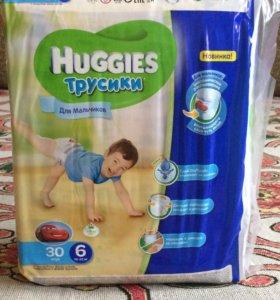 Трусики Huggies 6 (16-22кг) для мальчиков