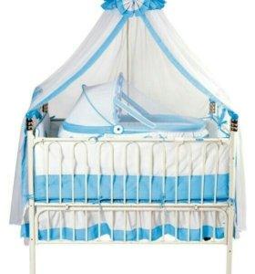 Детская железная кроватка
