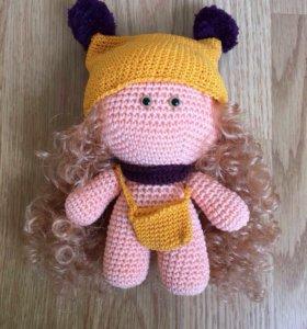 Пупс Йо-Йо/ вязаная кукла, игрушка