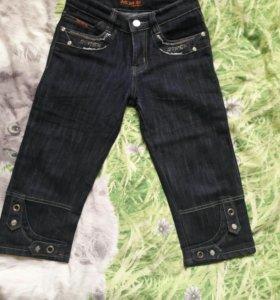 Капри, бриджи.джинсовые р.128-134