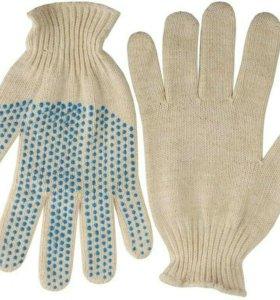 Перчатки х/б отличного качества. Цена от 10 пар
